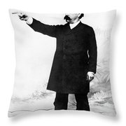 Afl Leader Samuel Gompers Throw Pillow