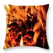 Aflame Throw Pillow