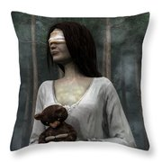 Afraid Of The Dark Throw Pillow