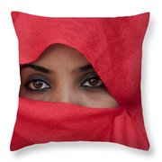 Africa, Ethiopia, Close Up Of Young Throw Pillow