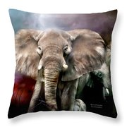 Africa - Protection Throw Pillow