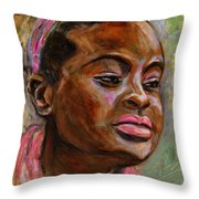 African American 3 Throw Pillow