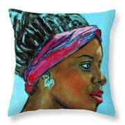 African American 5 Throw Pillow