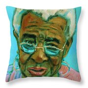African American 6 Throw Pillow