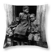 African American Children Throw Pillow