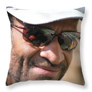 African American Male. Throw Pillow