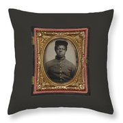 African American Union Soldier Throw Pillow
