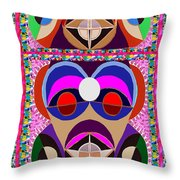 African Art Style Mascot Wizard Magic Comedy Comic Humor  Navinjoshi Rights Managed Images Clawn    Throw Pillow by Navin Joshi