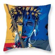 African Beauty 1 Throw Pillow