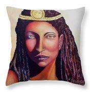 An African Face Throw Pillow