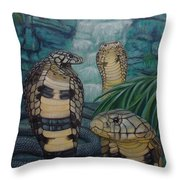 African Black Forest Cobras Throw Pillow