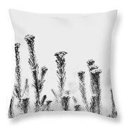 African Bushland-black And White Throw Pillow