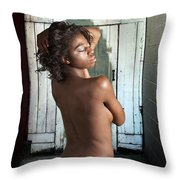 Chynna African American Nude Girl In Sexy Sensual Photograph And In Color 4788.02 Throw Pillow