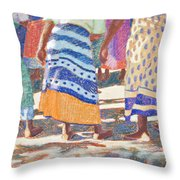 African Colors Throw Pillow by Tracy L Teeter