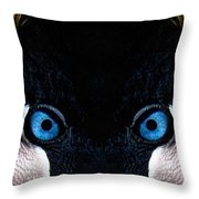 African Crowned Crane X2 Throw Pillow