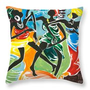 African Dancers No. 3 Throw Pillow