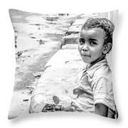 African Girl Remastered Throw Pillow