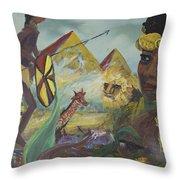 African Gold Throw Pillow
