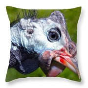 African Guinea Throw Pillow