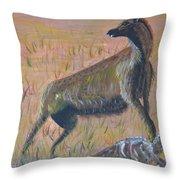 African Hyena Throw Pillow