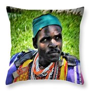 African Look Throw Pillow