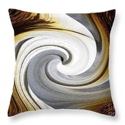 African Moon Twirls Throw Pillow