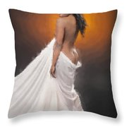African Nude And White Cloth 1036.02 Throw Pillow