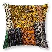 African Prints Throw Pillow