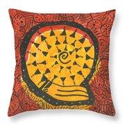 African Shell Pattern Throw Pillow