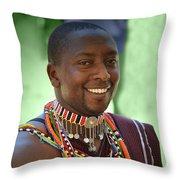 African Smile Throw Pillow