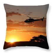 African Sunset II Throw Pillow