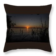 African Sunset Throw Pillow