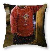African Toddler Throw Pillow