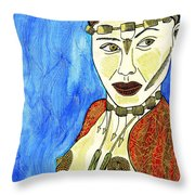 African Tribe Throw Pillow