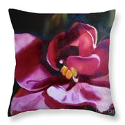 African Violet In The Light Throw Pillow