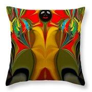 Afro Art Throw Pillow