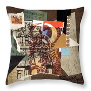 Afro Collage B Throw Pillow by Everett Spruill