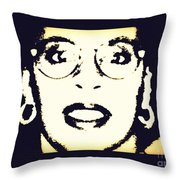 Afro Woman Throw Pillow