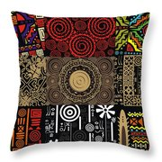 Afroecletic II Throw Pillow