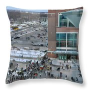 After A Winter Packers Game Throw Pillow