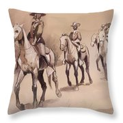 After In The Desert Throw Pillow