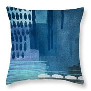 After Rain- Contemporary Abstract Painting  Throw Pillow