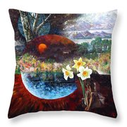 After The Death Of Christ Throw Pillow