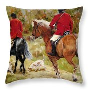 After The Hunt Throw Pillow by Diane Kraudelt