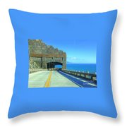 After The Landslide Throw Pillow