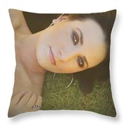 After The Picnic Throw Pillow by Laurie Search