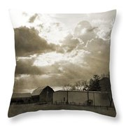 After The Storm On The Farm Throw Pillow