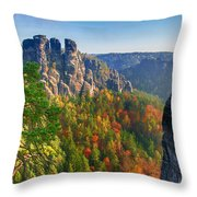 After The Sunrise On The Bastei Throw Pillow