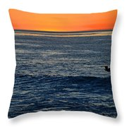 After The Sunset Glow In La Jolla Throw Pillow
