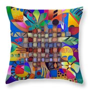 After Unexpected Rain Throw Pillow